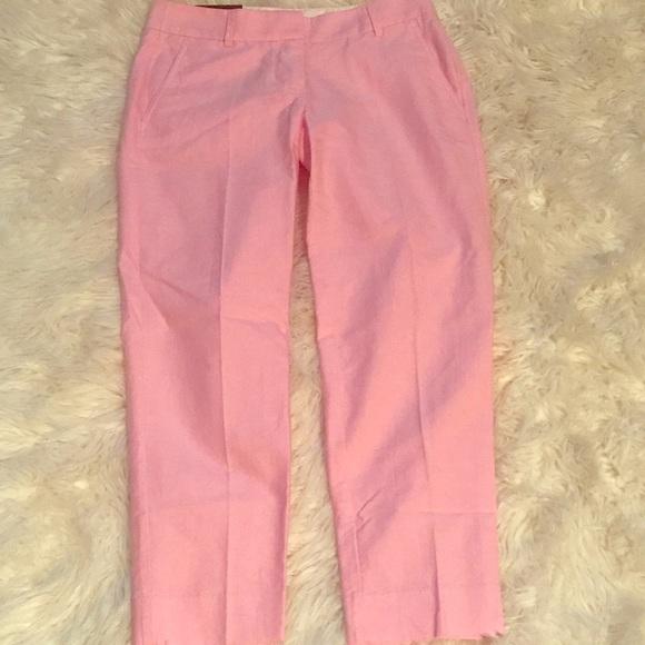 e412b27b6fc7 J. Crew Pants   Nwt Jcrew Pink Skimmer Pant City Fit   Poshmark
